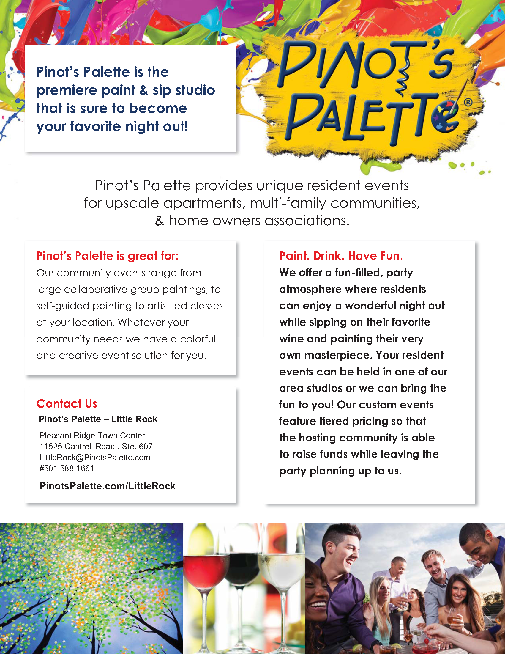 Apartment Living Events - Pinot\'s Palette