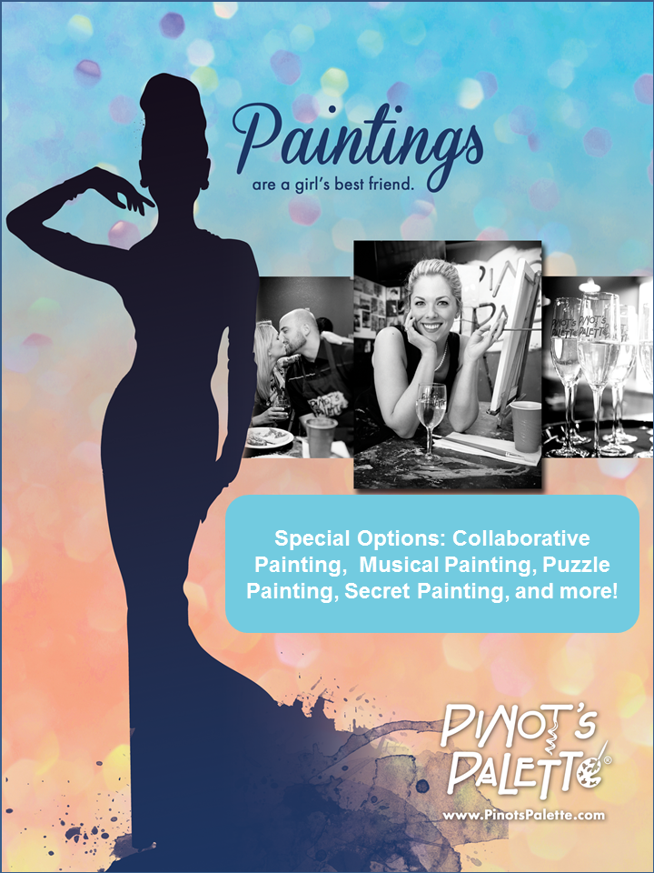 Girls Night,  Sorority Events, 💒 Bachelorettes, Bridal & Baby Showers 🍼 @ Pinot's Palette Little Rock