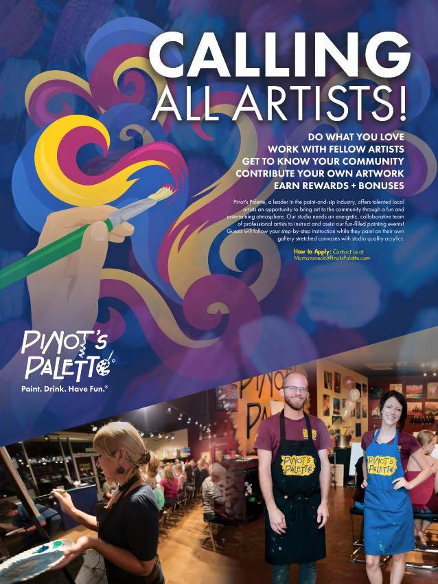 Calling All Artists Now Hiring Pinot S Palette Little Rock