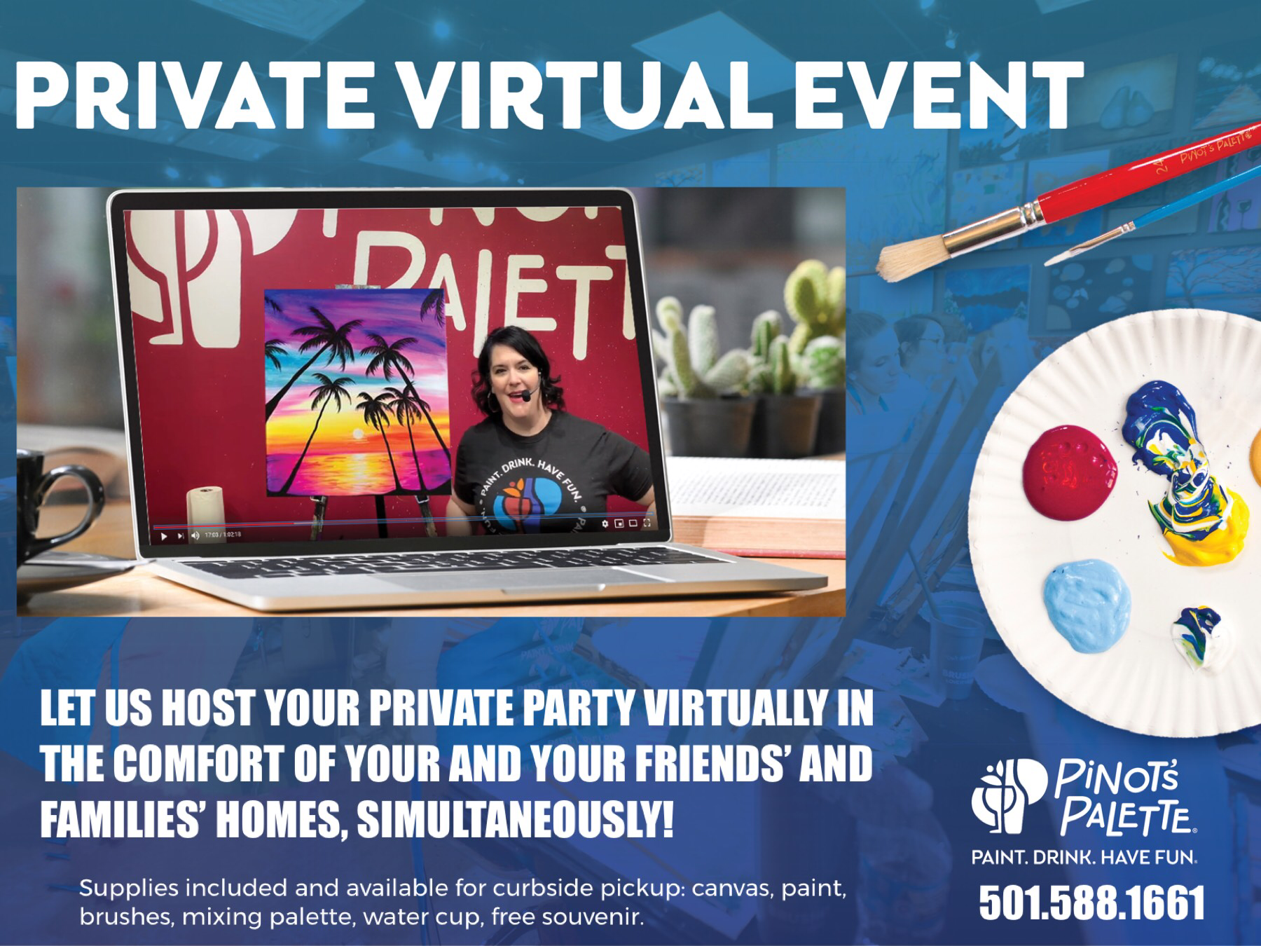 Private Virtual Painting Parties & Events