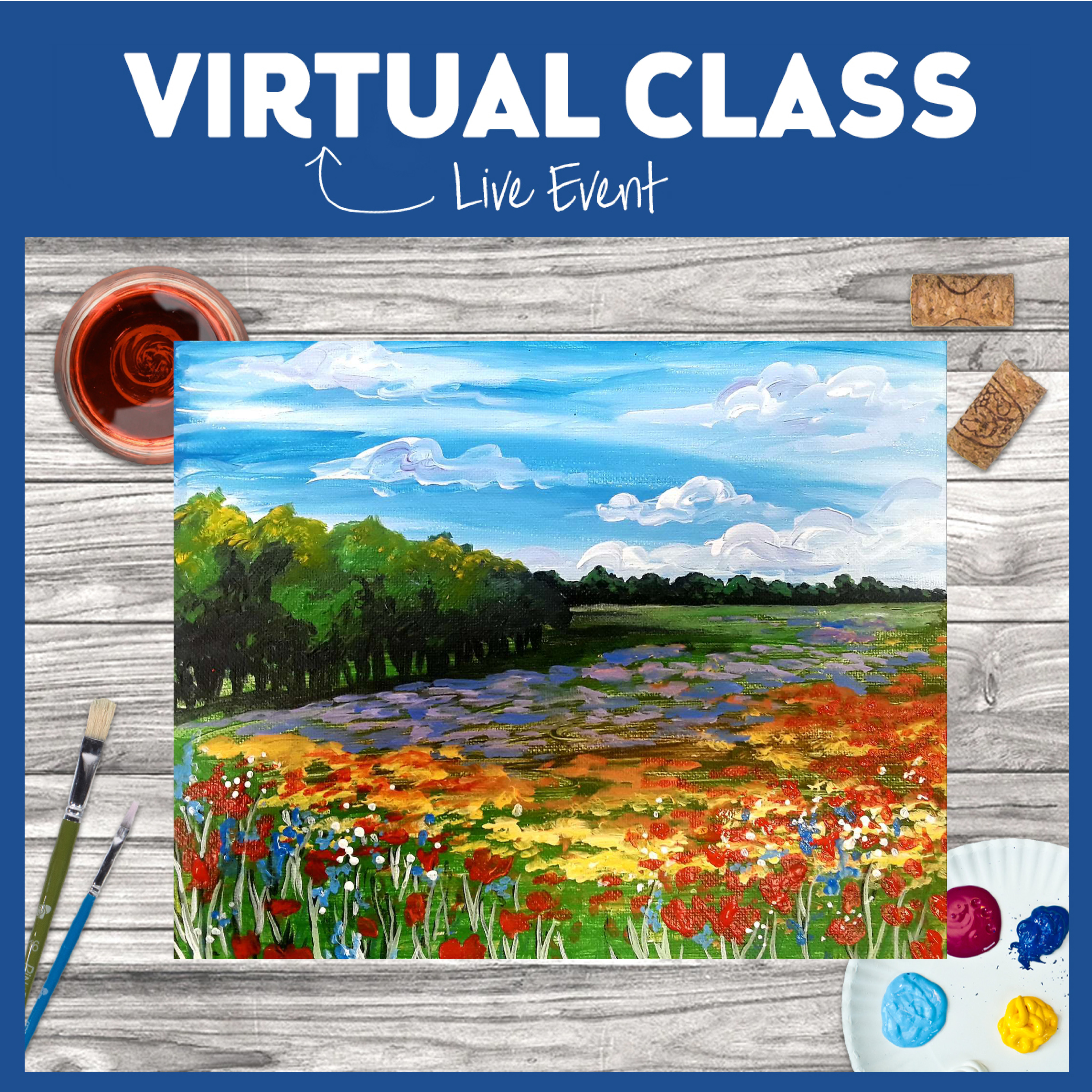 Interactive Virtual Event! Supplies Included option