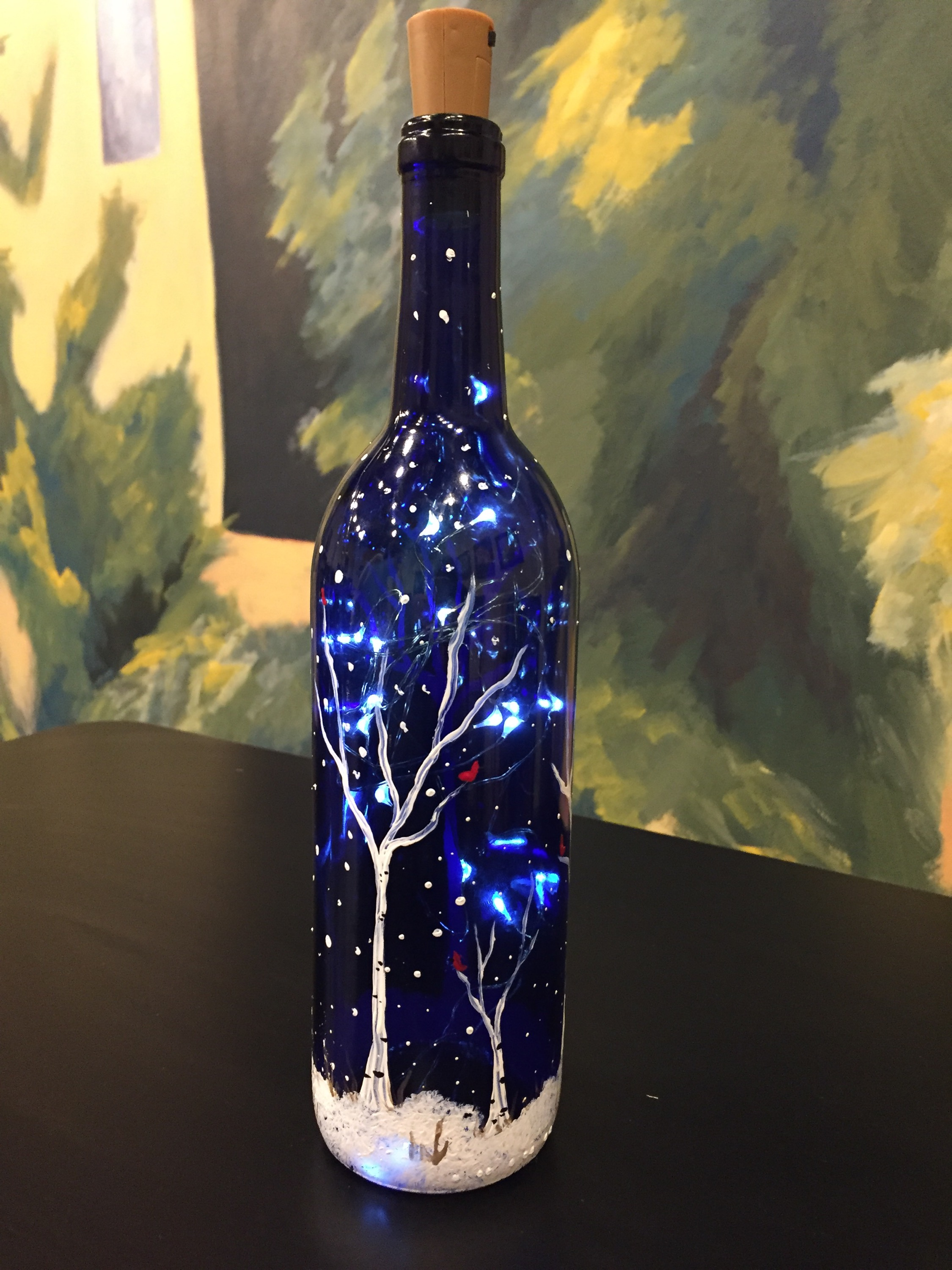 Painted & Illuminated Bottle