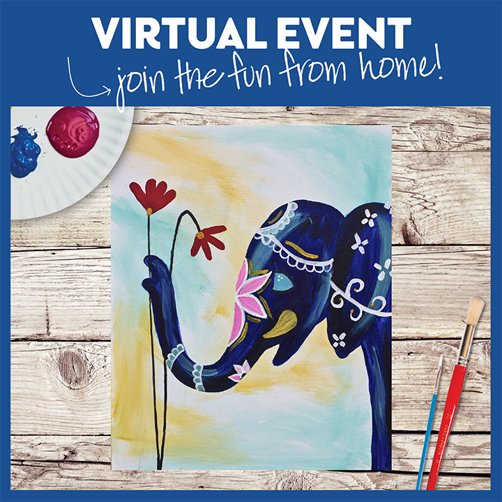 Virtual Event-  Pick up your kit and paint at home!