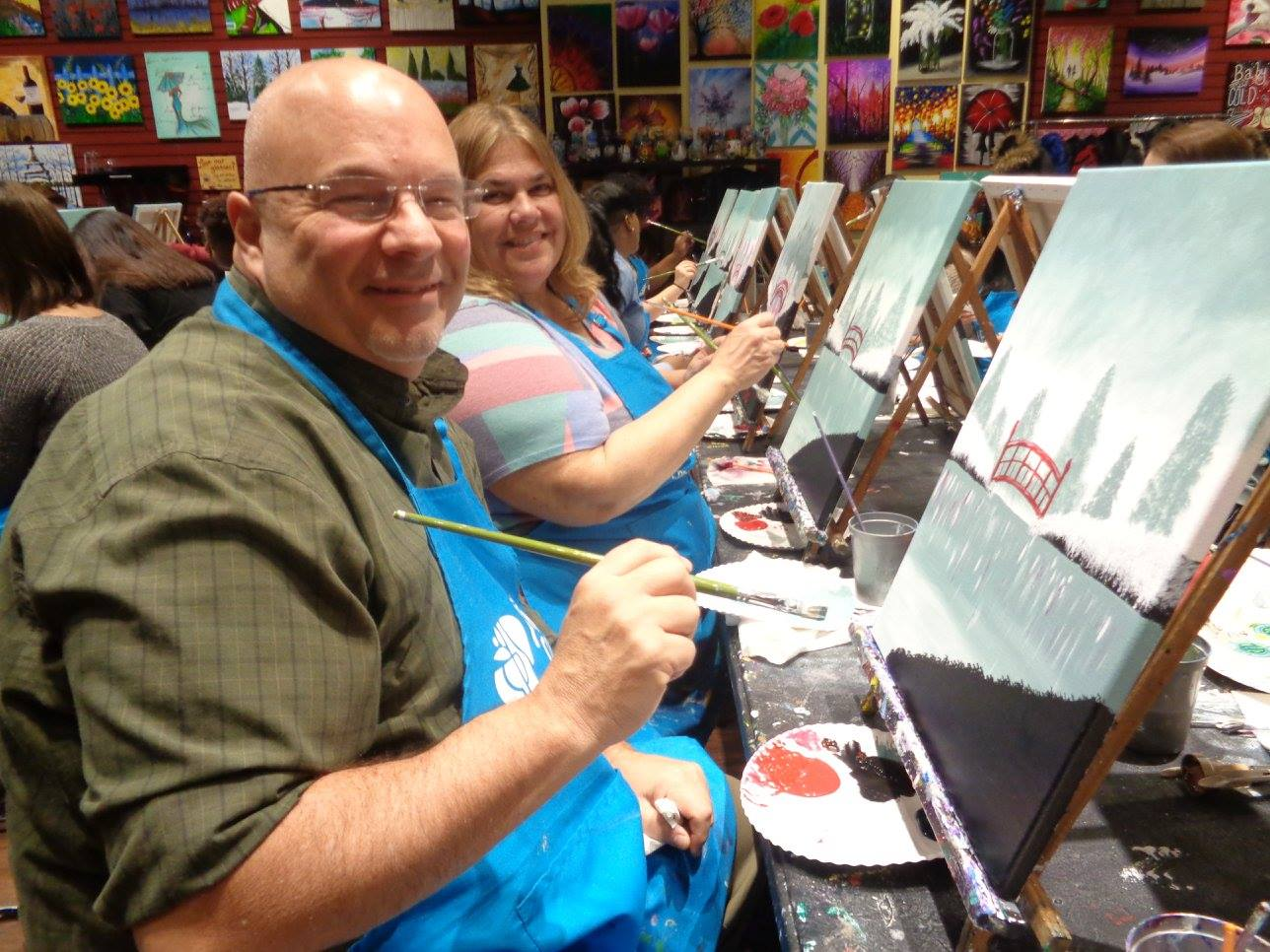 paint and sip Westwood NJ couples night