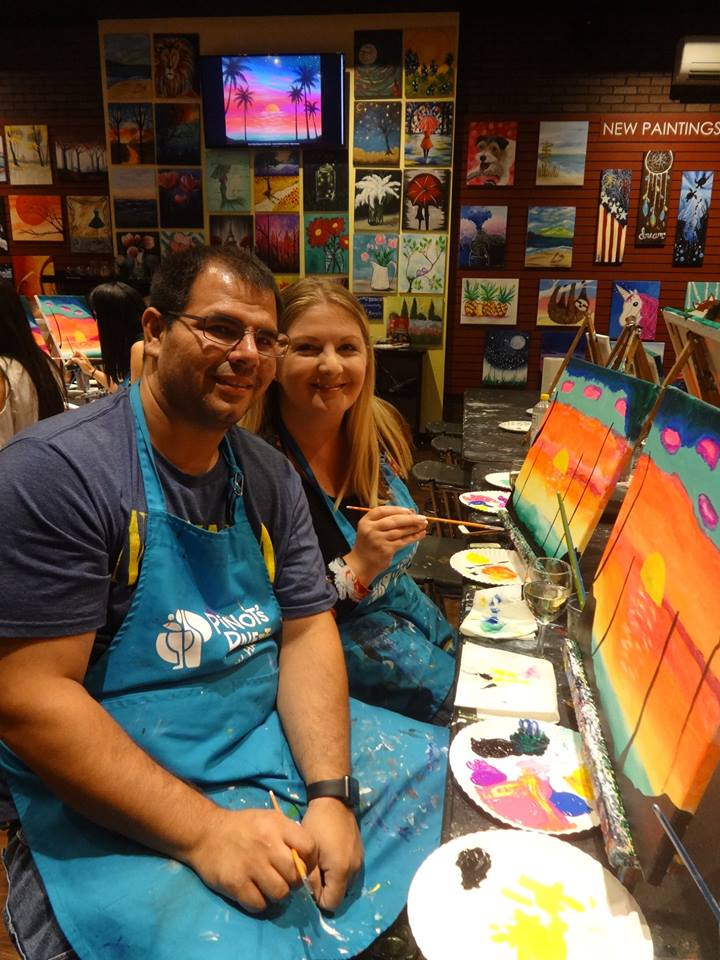 wine and paint Westwood NJ things to do