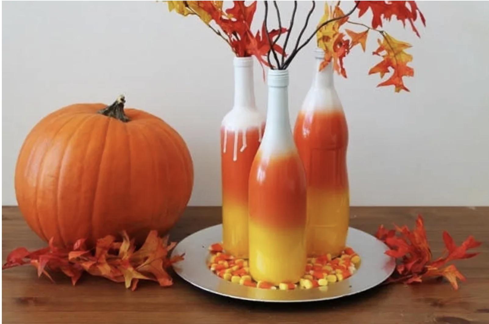 DIY Wine Bottle Halloween décor