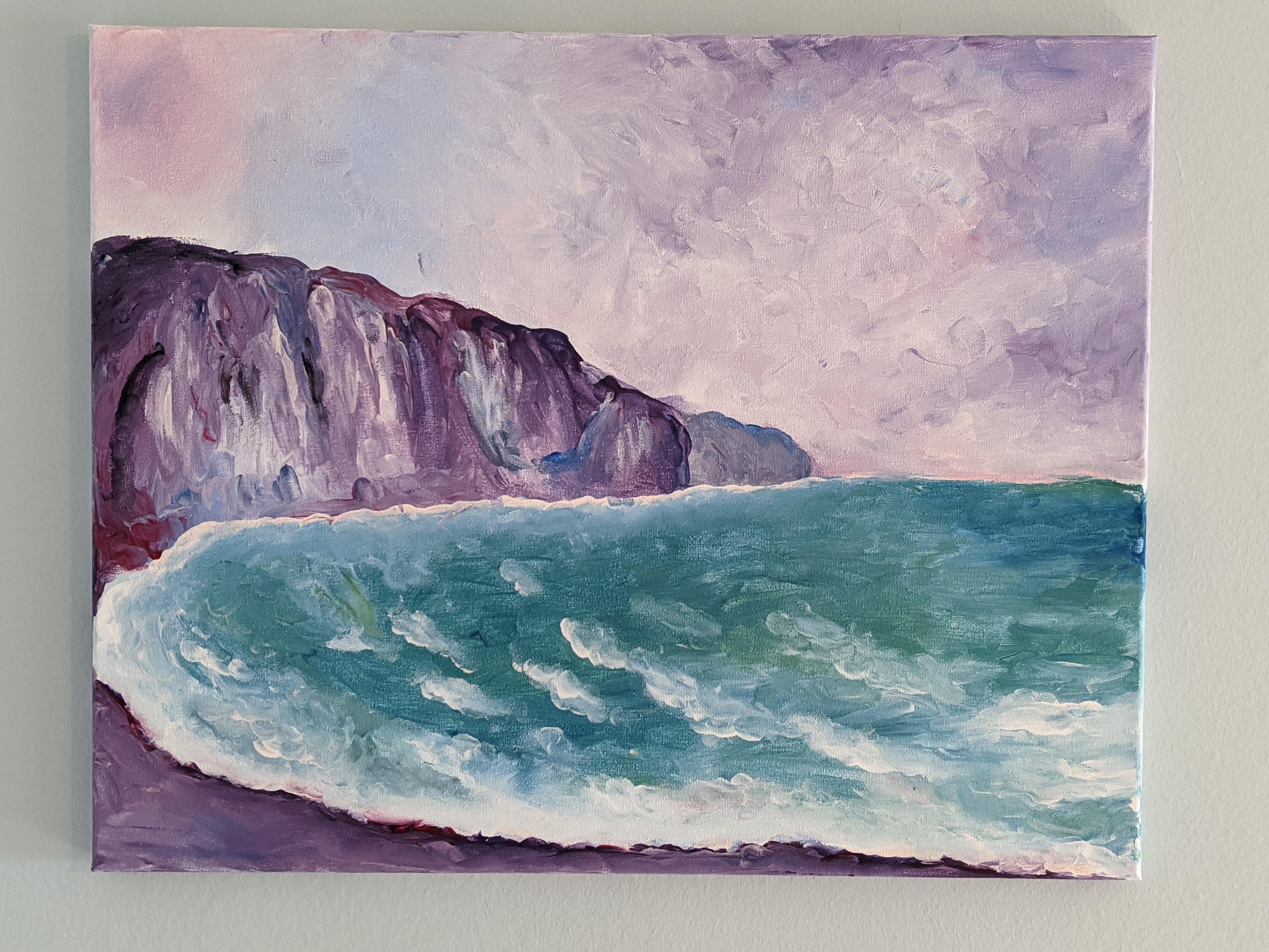 Finger Painting: Monet's Cliff at Pourville