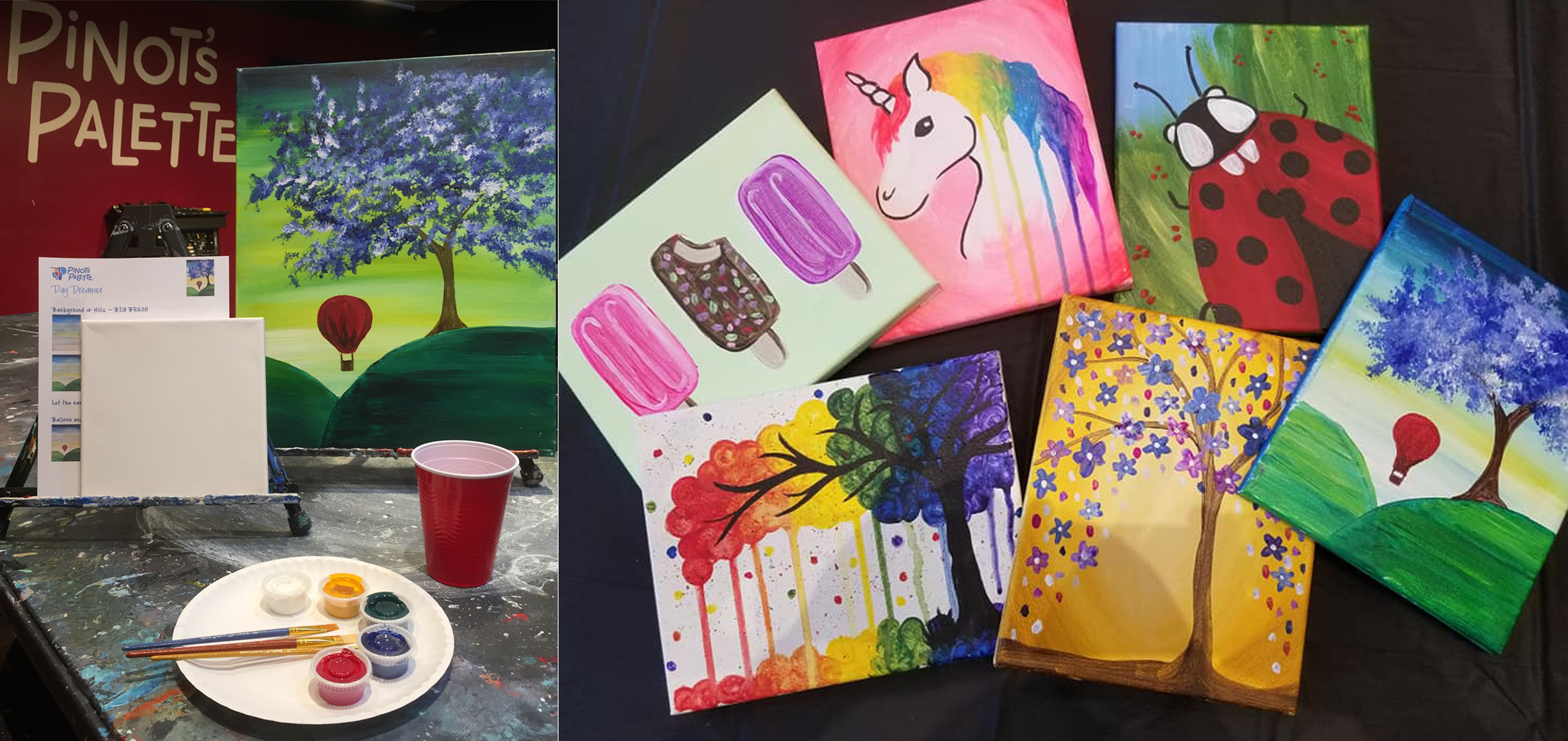Pinot's Palette Now Offering Take Home Painting Kits