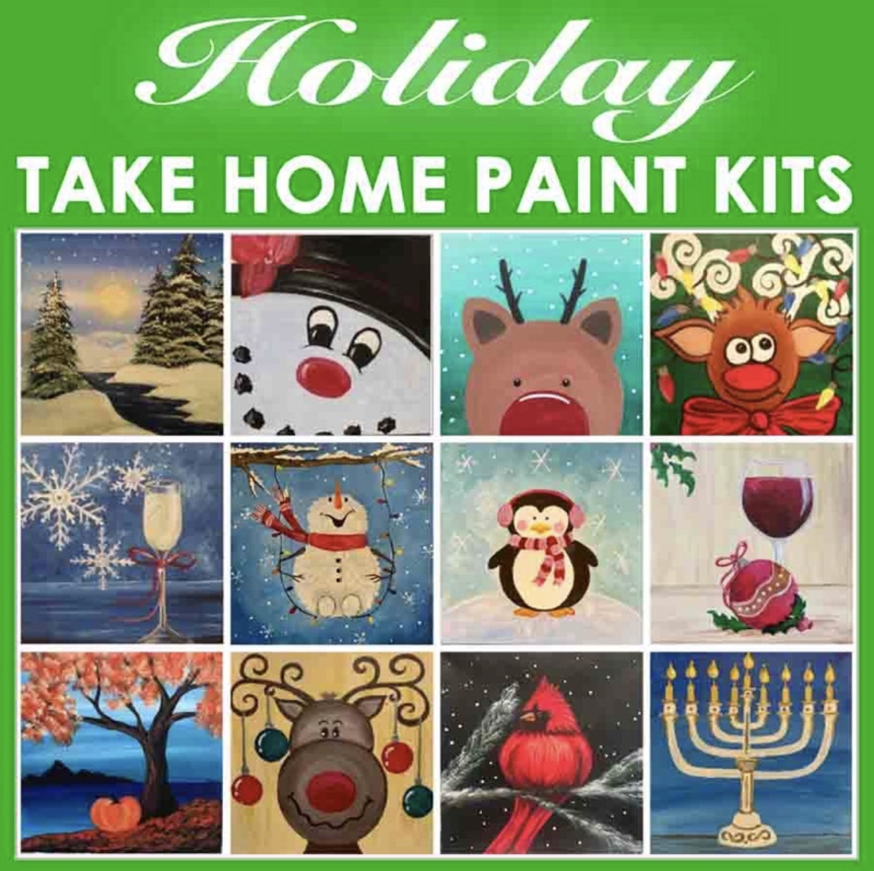 🌟 THANKSGIVING SPECIAL OFFER !!! BUY 4 TAKE HOME PAINT KITS / GET 1 FREE TAKE HOME PAINT KIT!!! USE CODE AT CHECKOUT:   B4GO🌟 (Mini) Family Fun