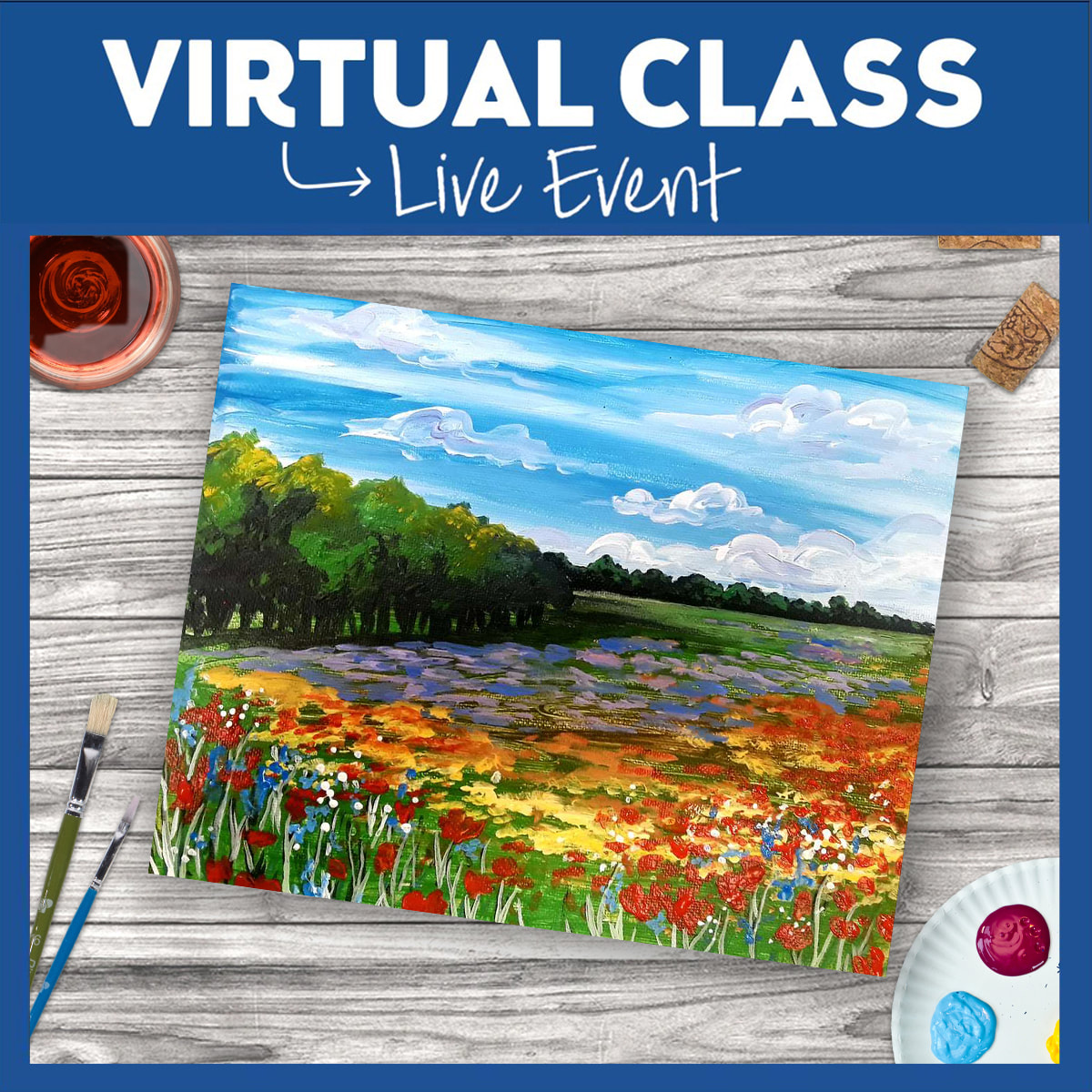 VIRTUAL EVENT - FIELD OF FLOWERS