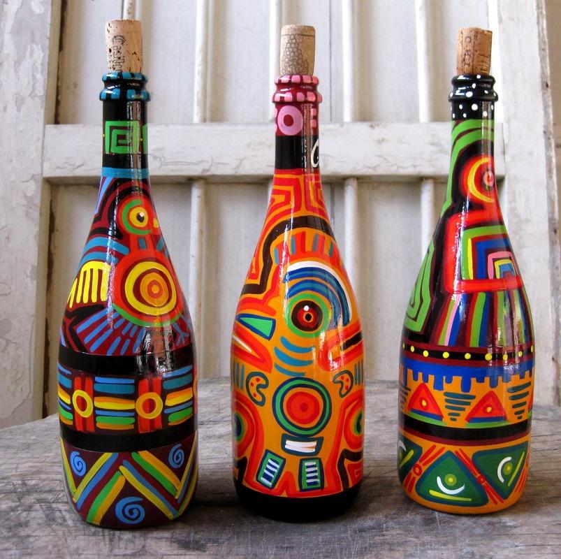 Turn Your Empty Wine Bottles Into Art!