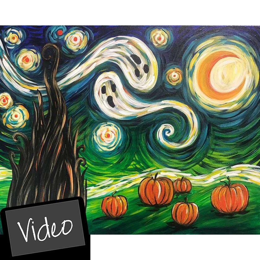Van Gogh's Starry Night - Halloween