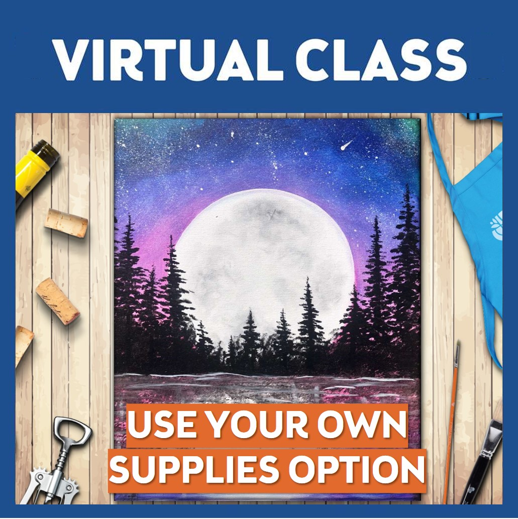 LIVE INTERACTIVE VIRTUAL CLASS - USE YOUR OWN SUPPLIES