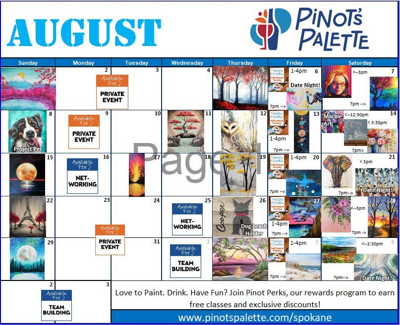 August Calendar is Up!