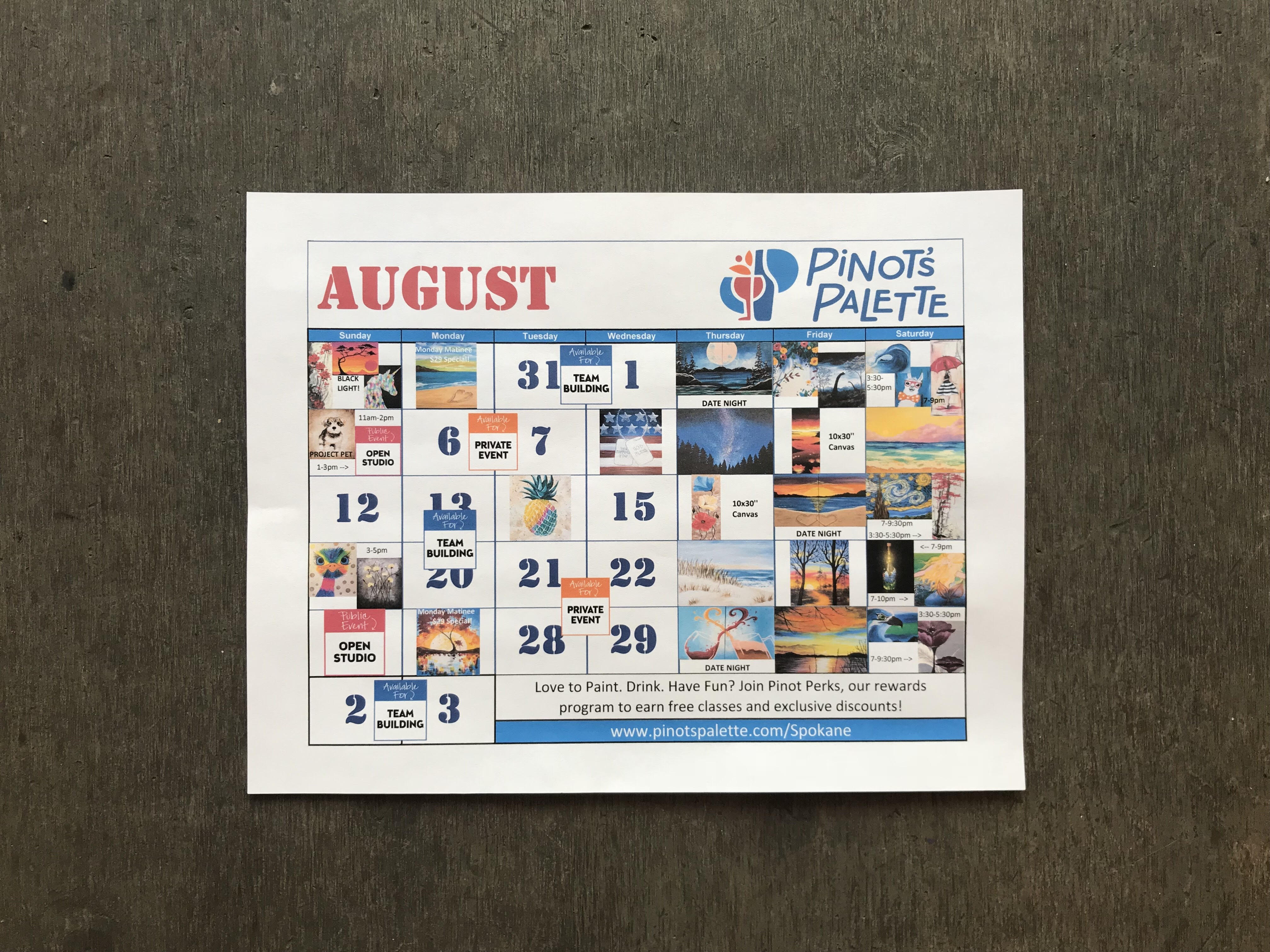 August Specialty Painting Classes