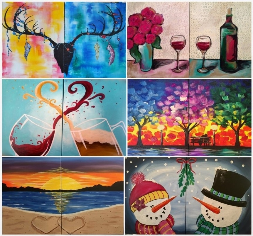Our Date Night Style Paintings Are Different Than Typical In That You Create One Half Your Partner Creates The Other And Together