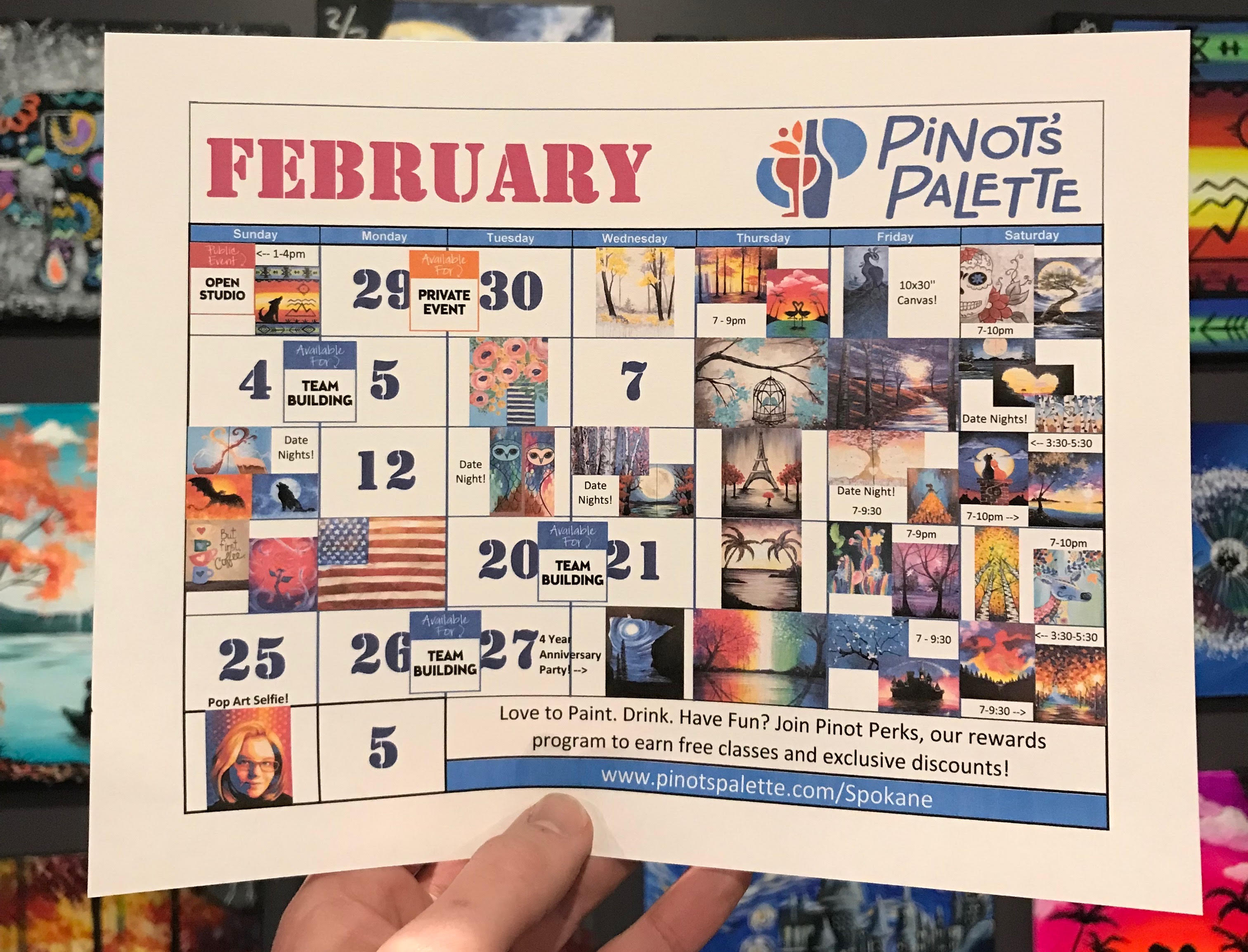 Fall In Love With Pinot's Palette This February