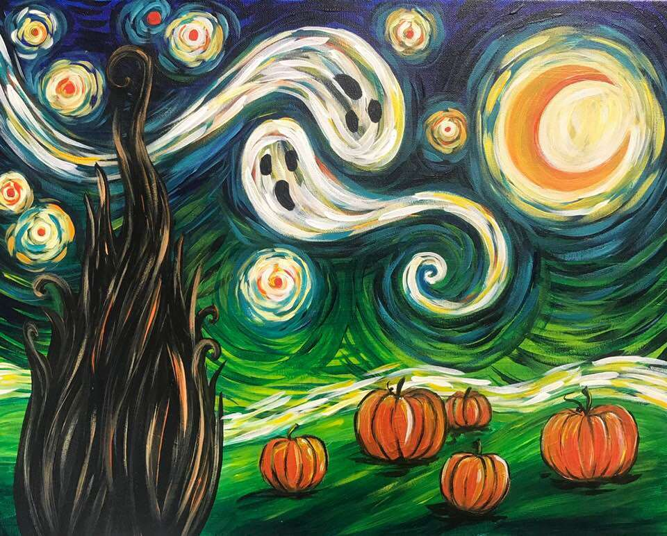 van goghs starry night halloween