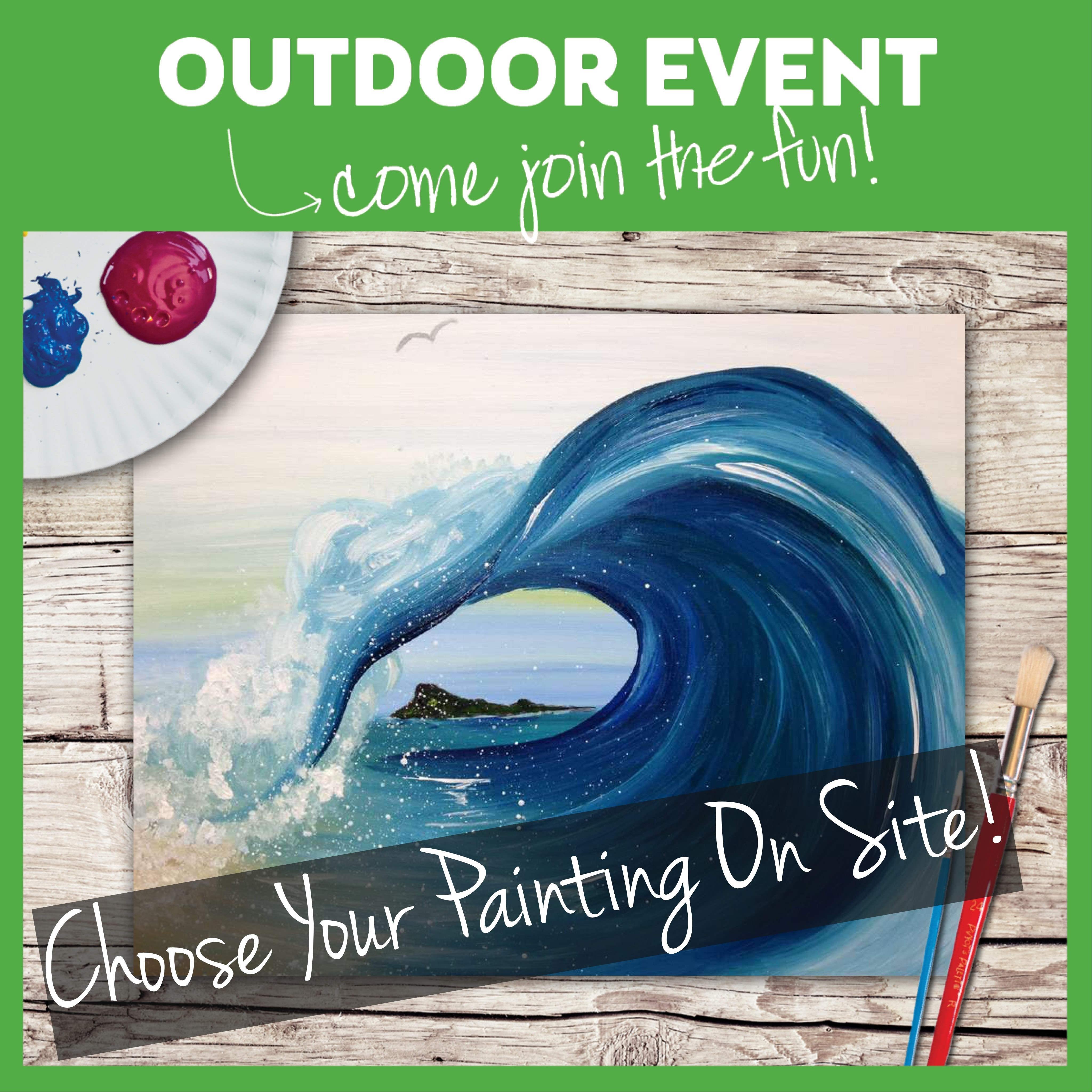 OUTDOOR CLASS!  COME TO THE STUDIO AND PICK THE VIDEO GUIDED PAINTING OF YOUR CHOICE!