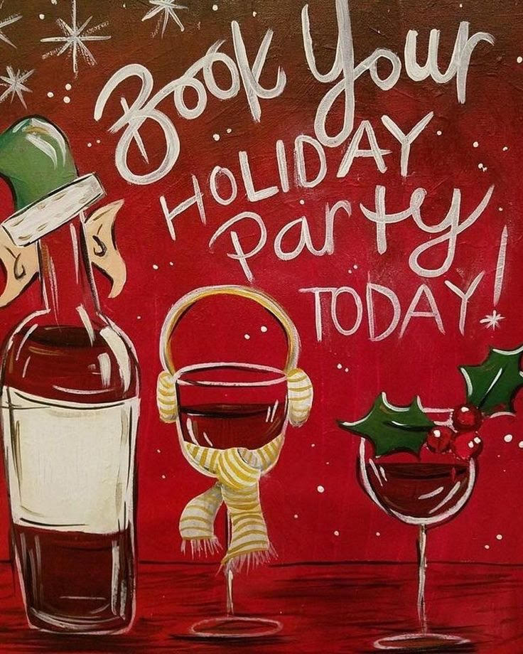 Plan the best holiday party ever pinot 39 s palette for Wine and paint st louis