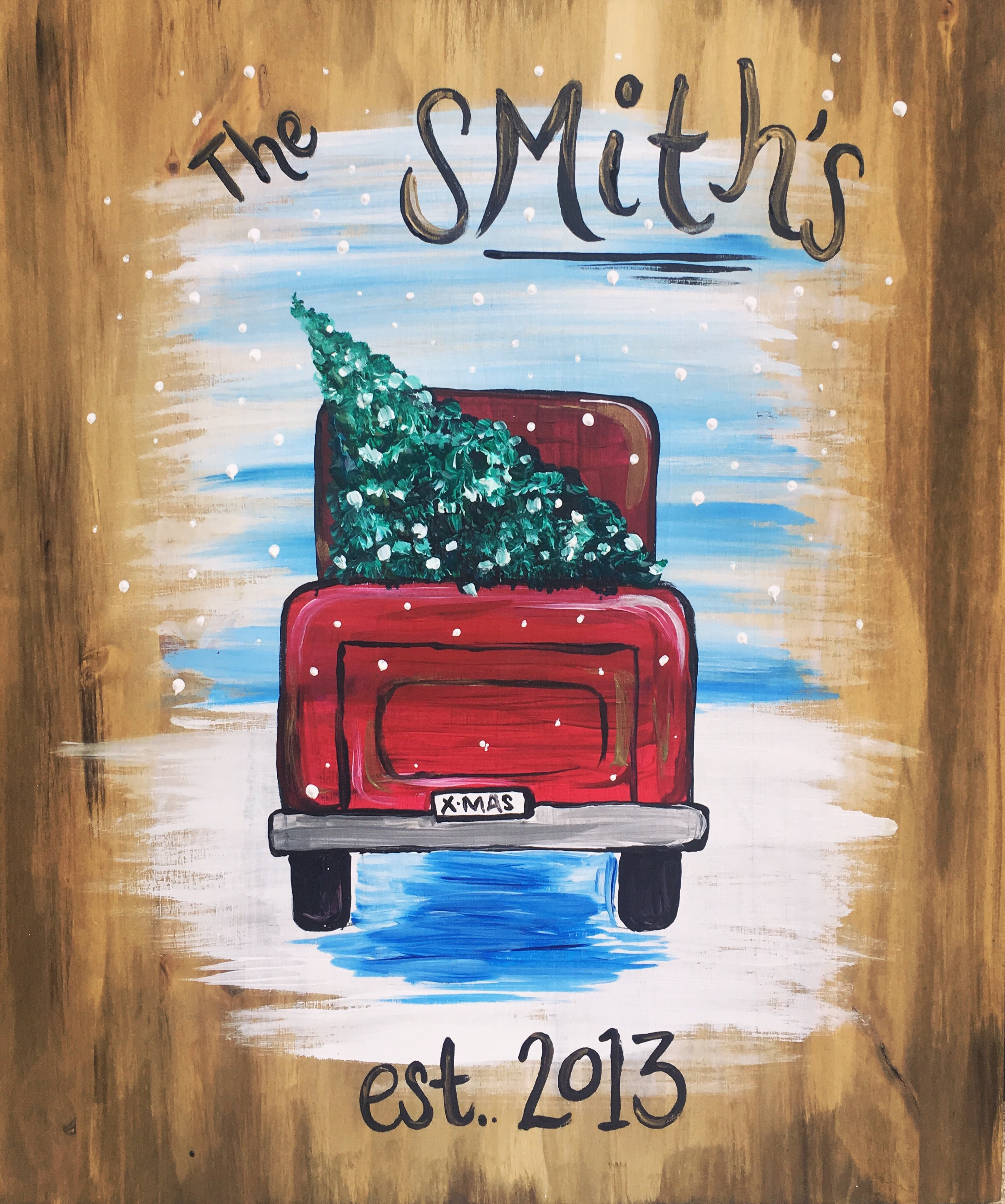 Little Red Truck- Canvas