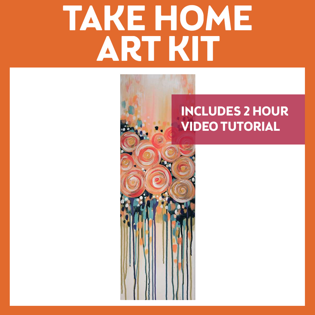 Take Home Kit with Video Tutorial Apricot Roses