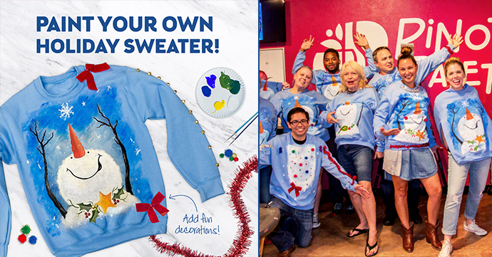 Paint Your Own Holiday Sweater