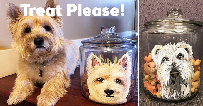 Paint your pet on a treat jar