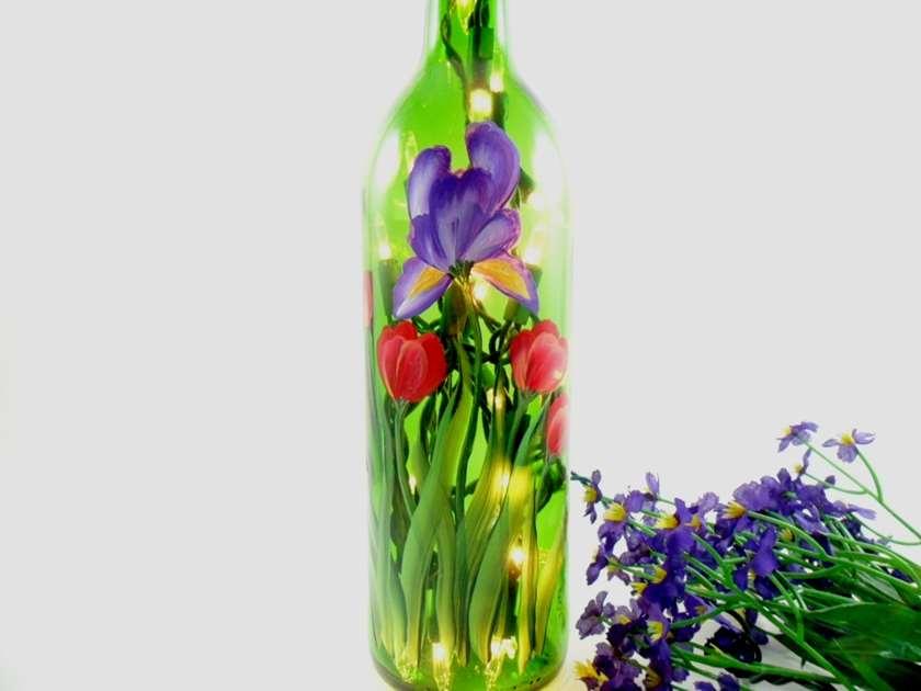 Iris LED Wine Bottle