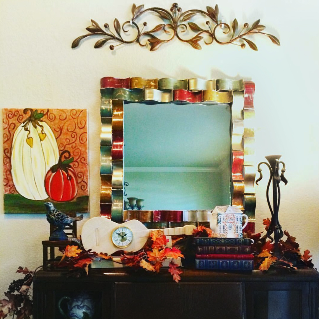 Hanging your beautiful masterpiece in your home this fall.