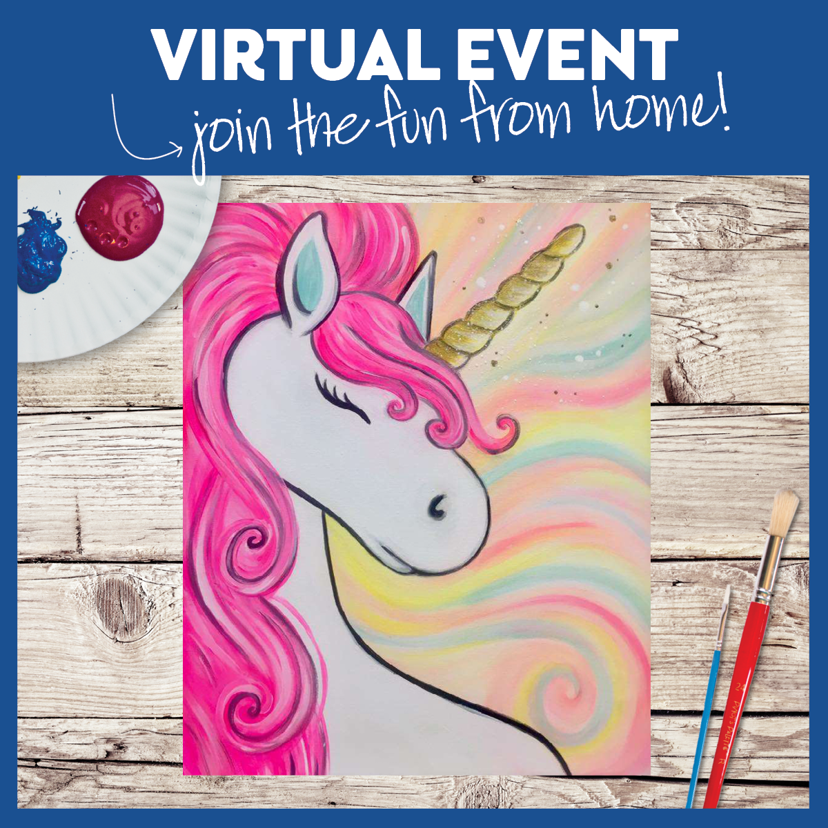 Little Brush Virtual Event. Save $5 Per Canvas!