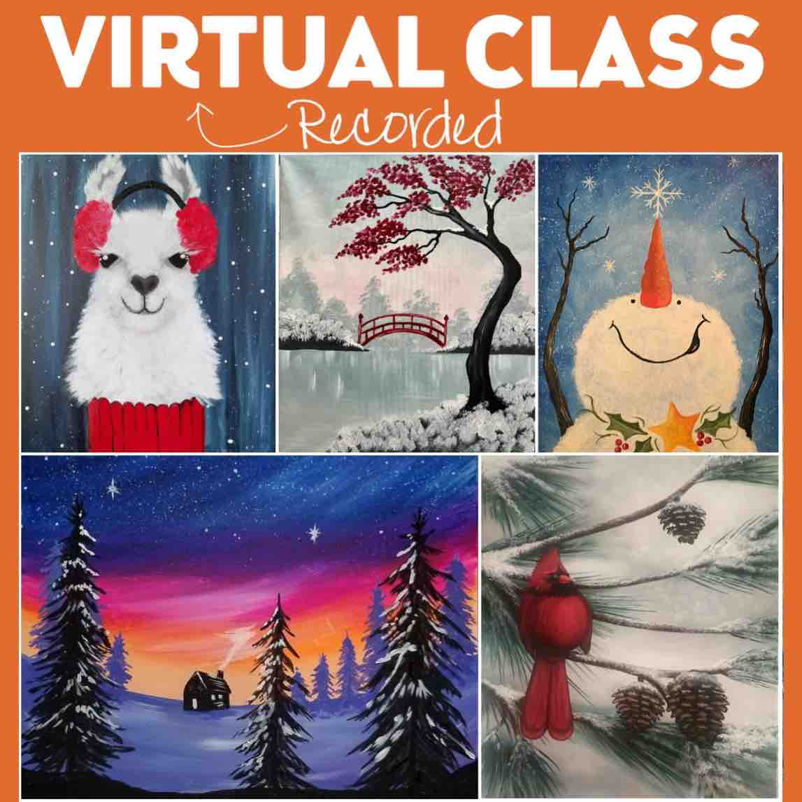Winter Wonders At Home Recorded Classes * Order Today - Pickup Tomorrow