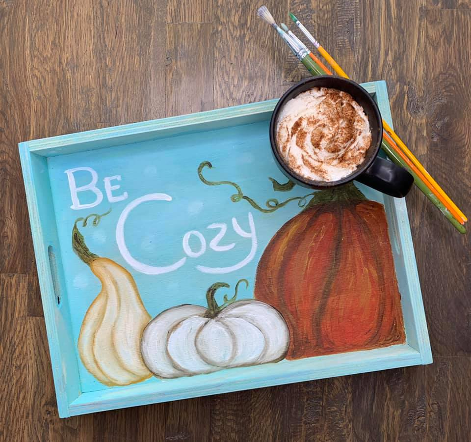 Be Cozy Tea Tray