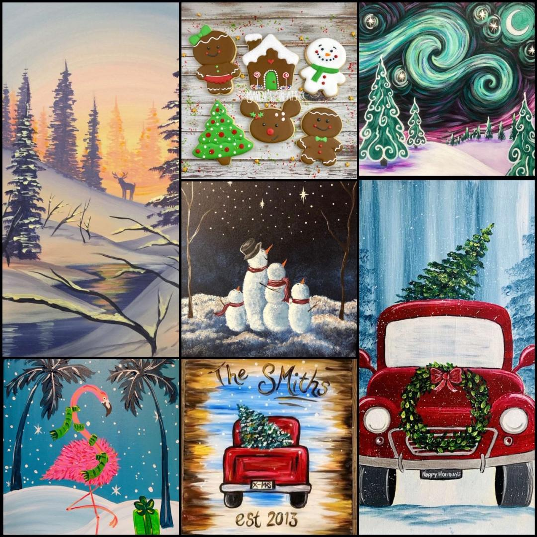 Join Us For Some Holiday-Themed Artwork All Month Long!