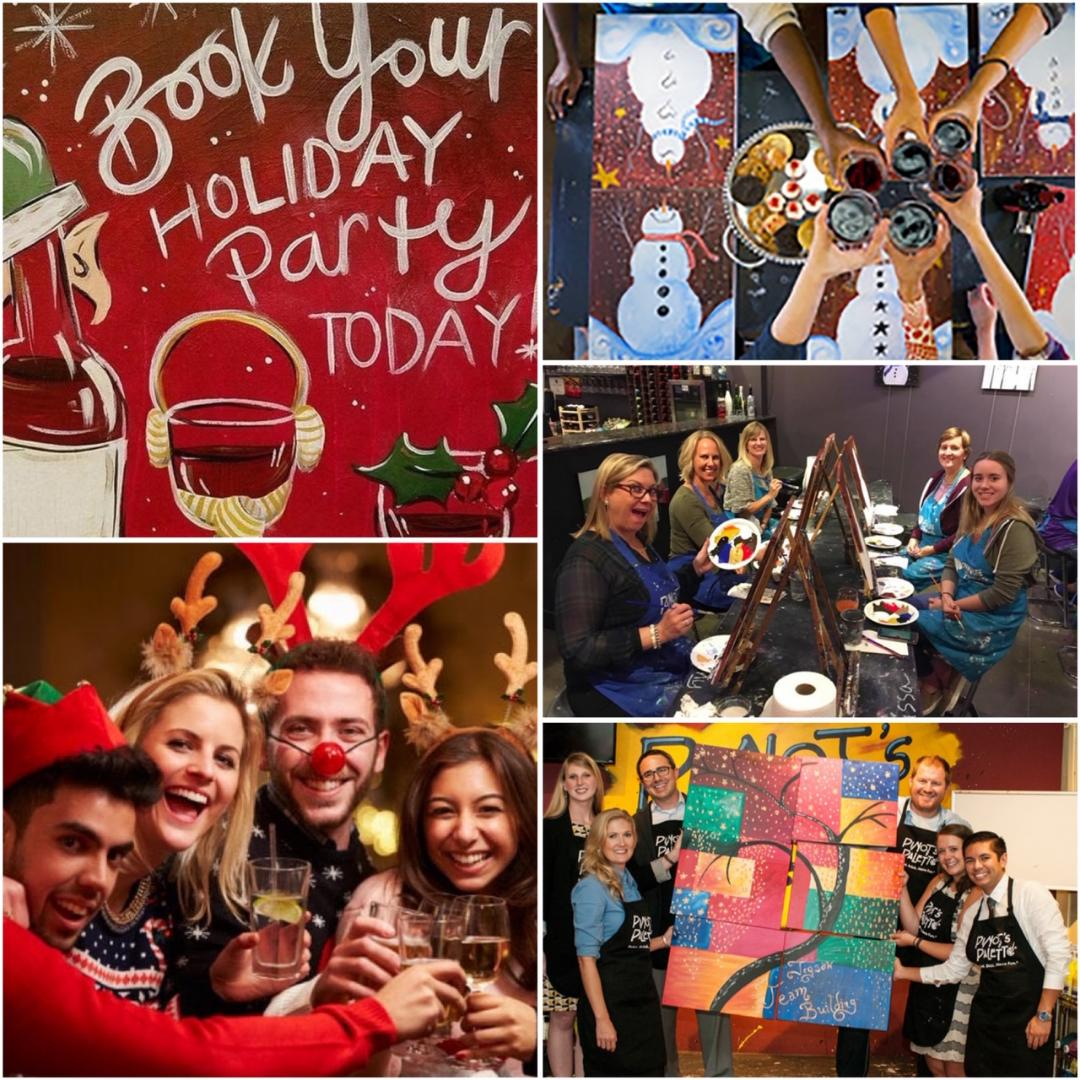 Holiday Private Parties With Pinot's Palette Are The Best! Books Yours Today!