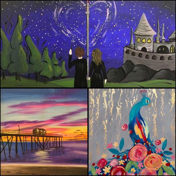 Tustin things to do in Orange County painting and wine in OC