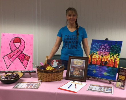 ETMC Pink Ribbon Getaway, Give back, Pinot's Palette, Make-a-Wish, Fun, paint
