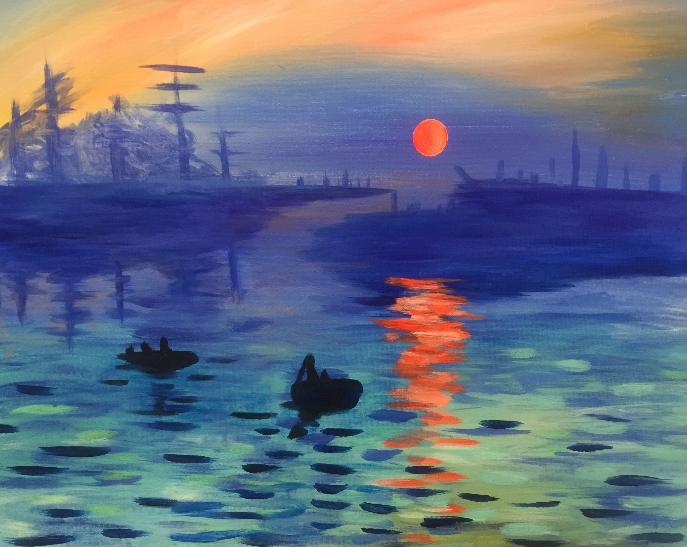 an analysis of monets painting impression sunrise Throughout the years, claude monet's impression, sunrise has been celebrated as the quintessential symbol of the impressionist movement this renowned work.