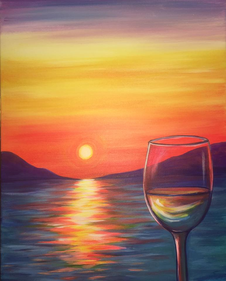 Pinots Palette, Paint and Sip, Date Night, Wine and Fun, Art, Ladies night, Paradise