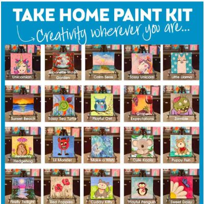 SELF GUIDED ART KITS *DOORSIDE PICK UP!
