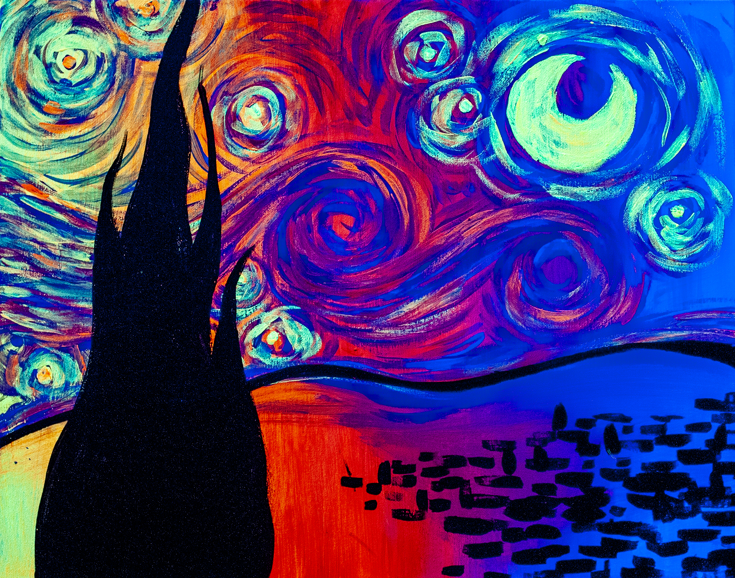 Psychedelic Starry Night
