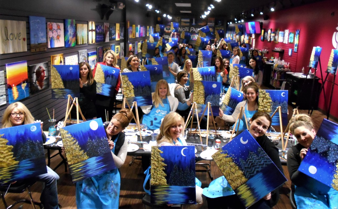 fun paint and sip art classes in Wayne NJ