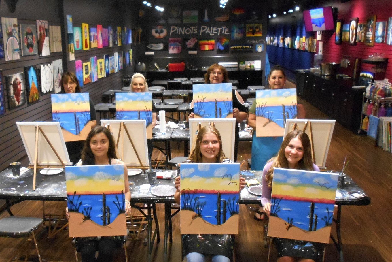 learn to paint at art classes in Clifton NJ