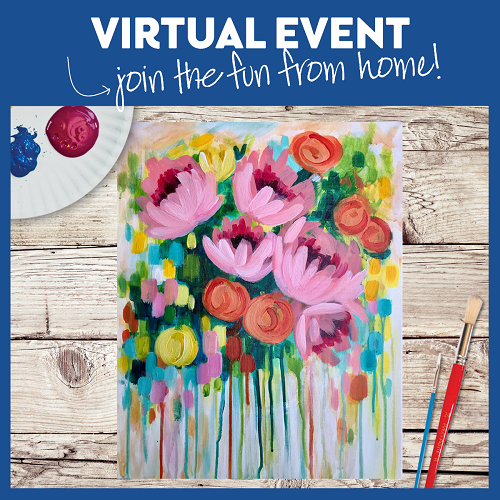 Abstract Floral  -  Live Virtual Event or Watch Recording Later