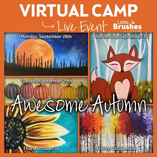 "Full Week of Virtual Camp ""Awesome Autumn"" theme -  Join Live Virtual Events or Watch Recordings Later"