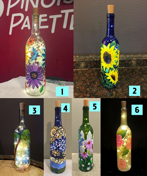 Wine Bottle w/ Lights Take Home Kit - 6 options - Free Delivery