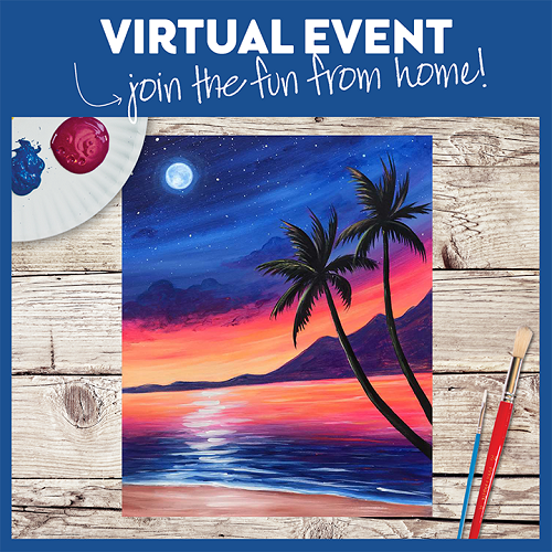 Seaside Sunset  -  Live Virtual Event or Watch Recording Later