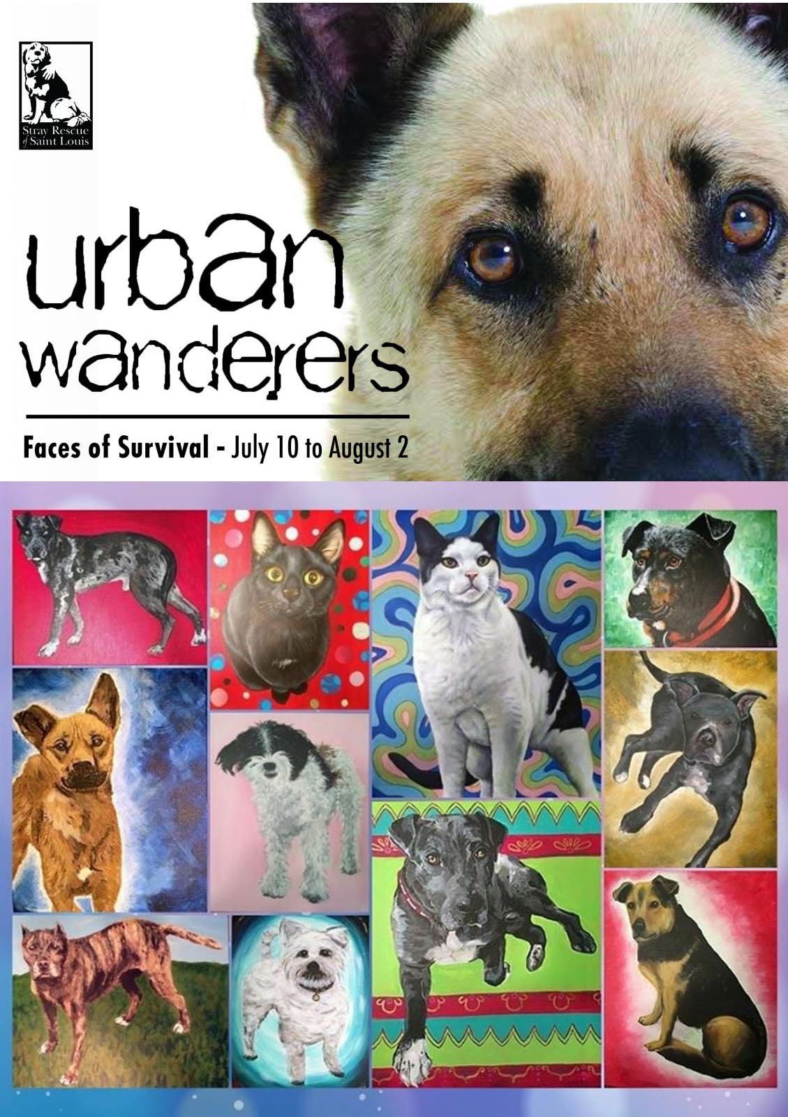 "Pinot's Palette helps Stray Rescue and ""Urban Wanderers Exhibit"""