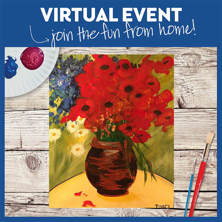 Van Gogh's Daisies and Poppies -  Live Virtual Event or Watch Recording Later