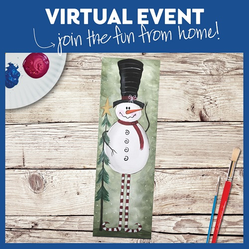 Vintage Snowman -  Live Virtual Event or Watch Recording Later